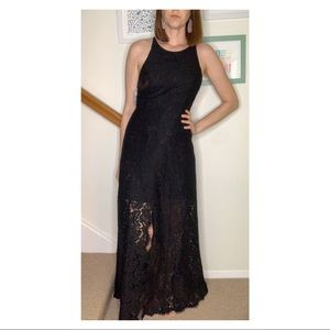 Fame & Partners Patsy Lace Maxi Dress Black Size 4
